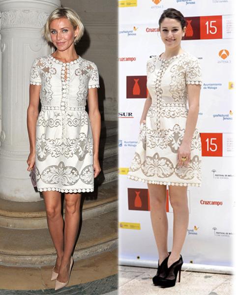 Vestido de Valentino: ¿Cameron Diaz o Blanca Suarez?