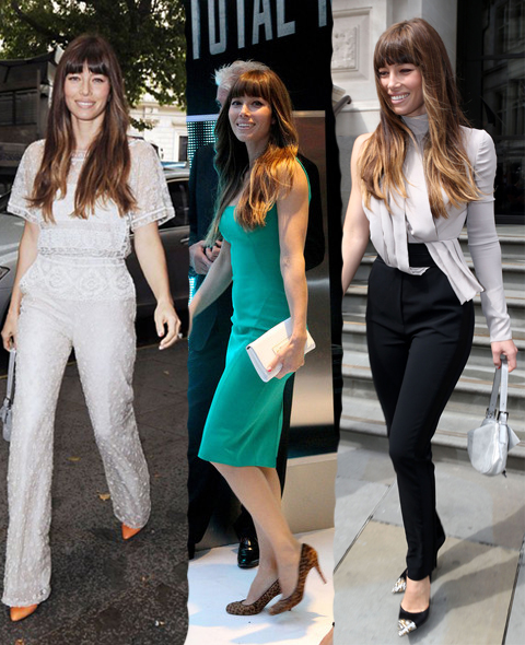 Más looks working de Jessica Biel