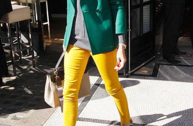 El color block sigue vigente gracias a Olivia Palermo