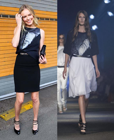 Front Row: Kate Bosworth en el desfile de Prabal Gurung