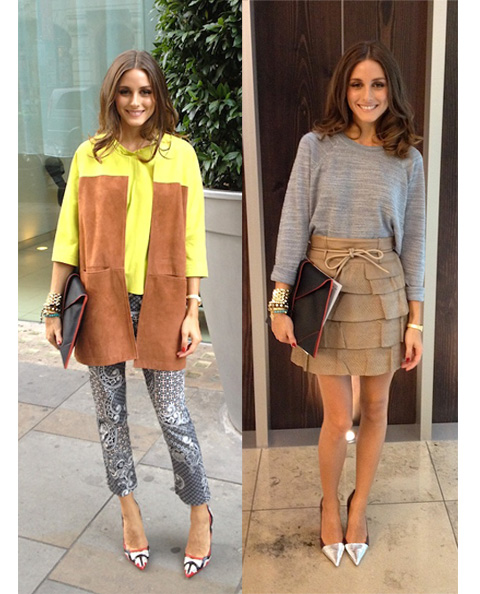 Olivia Palermo también está en la London Fashion Week
