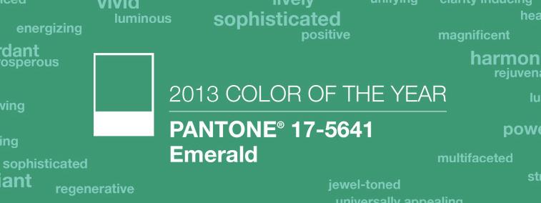 El verde esmeralda, el color del 2013, según Pantone