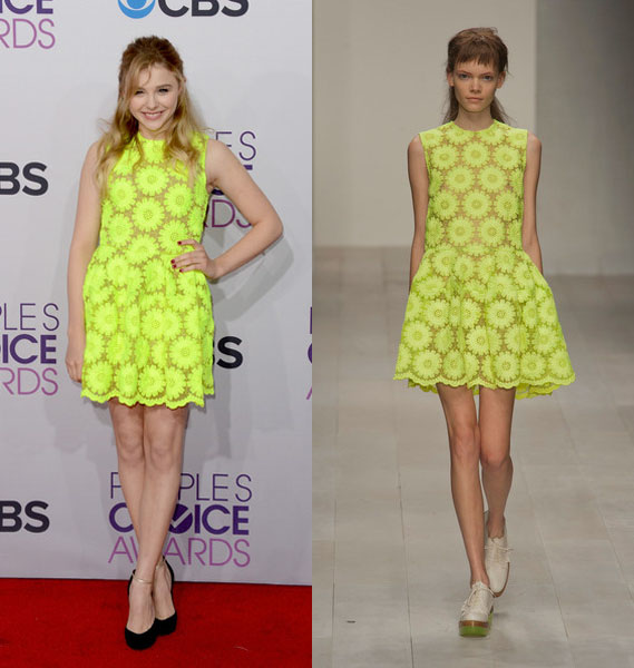 chloe+moretz+simone+rocha+people´s+choice+awards