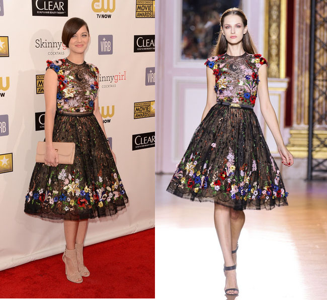 marion+cotillard+zuharid+murad+critics+choice+awards