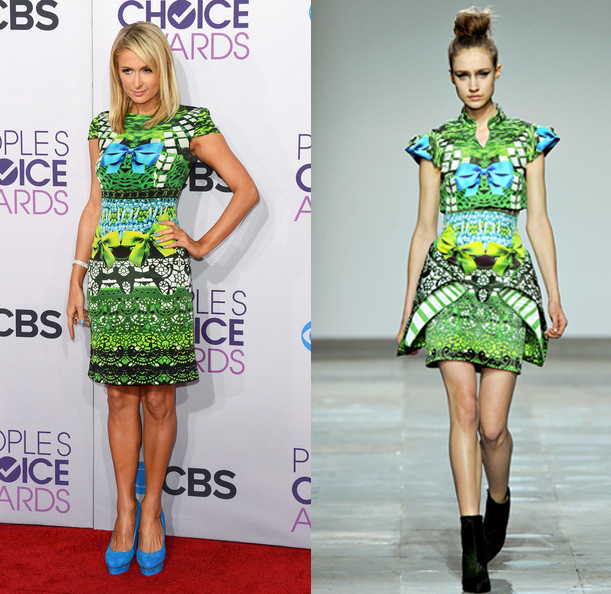 paris+hilton+mary+katrantzou