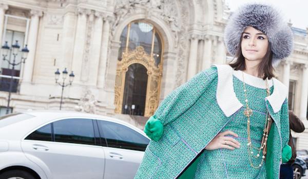 Miroslava Duma en la Alta Costura de Paris