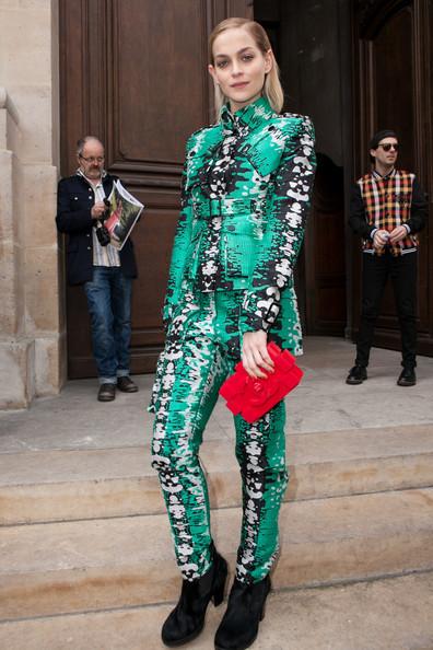 Leigh+Lezark+Arrivals+Jean+Charles+de+Castelbajac+chanel lego bag-street style