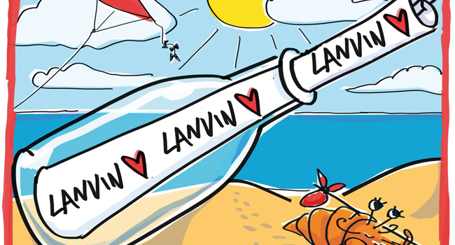 In love: Las ilustraciones de Elbaz para Lanvin