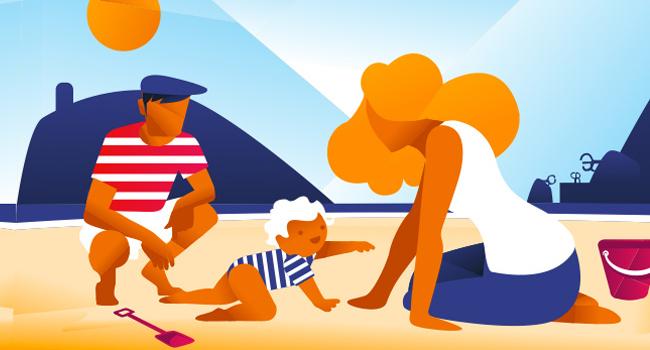 Maleta de vacaciones, rumbo a la playa