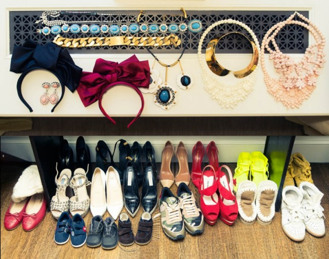 natasha_goldenberg-the-coveteur-style-fashion-inspiration-closet-necklace-shoes