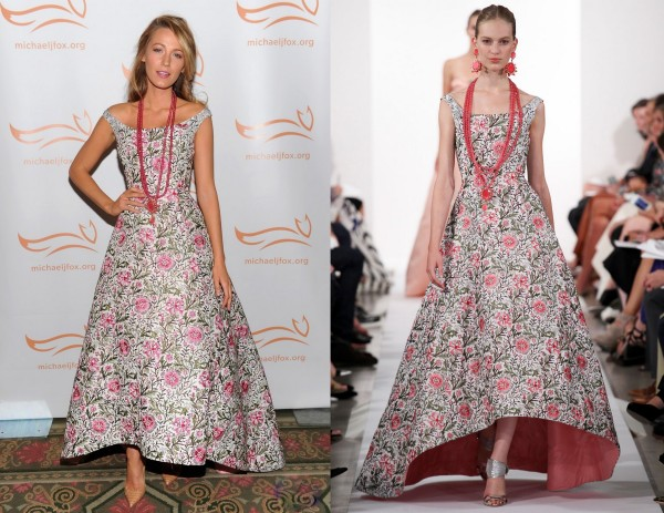 Blake-Lively-Wearing-Oscar-de-la-Renta-2013-A-Funny-Thing-Happened-On-The-Way-To-Cure-Parkinsons-4-600x463