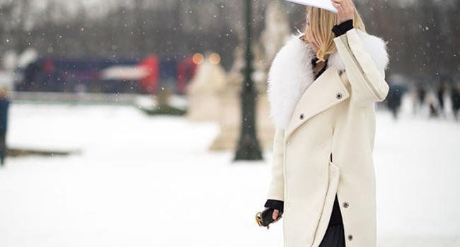 Inspiración Street Style: el abrigo blanco