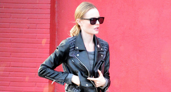 Consigue el look motero de Kate Bosworth #streetstyle