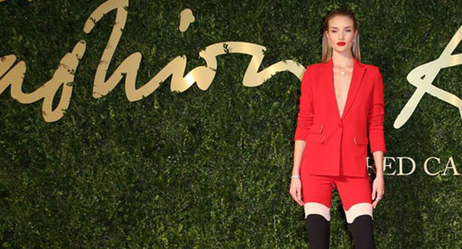 Alfombra Roja de los British Fashion Awards 2013