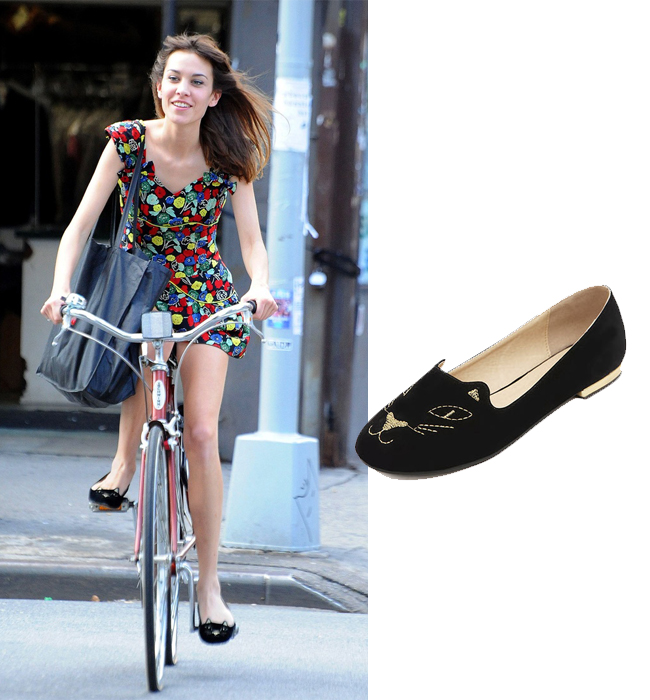 alexa-chung-charlotte-olympia-shoes-street-style