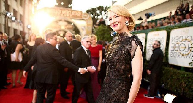 Golden Globes 2014: Cate Blanchett, Jessica Chastain, Emma Roberts, Sofia Vergara, Kelly Osbourne y Julianna Margulies de negro