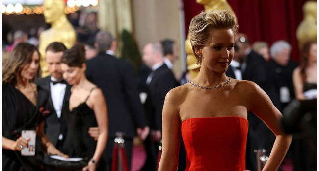 Jennifer Lawrence se marca un Michelle Williams en los #Oscars FMA
