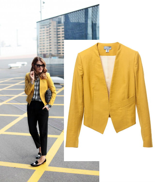 My Daily Style Blazer amarilla Girissima