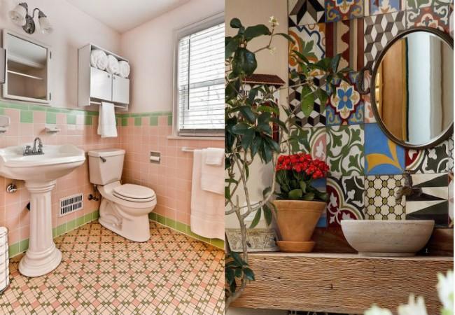 baldosa hidráulica en baños