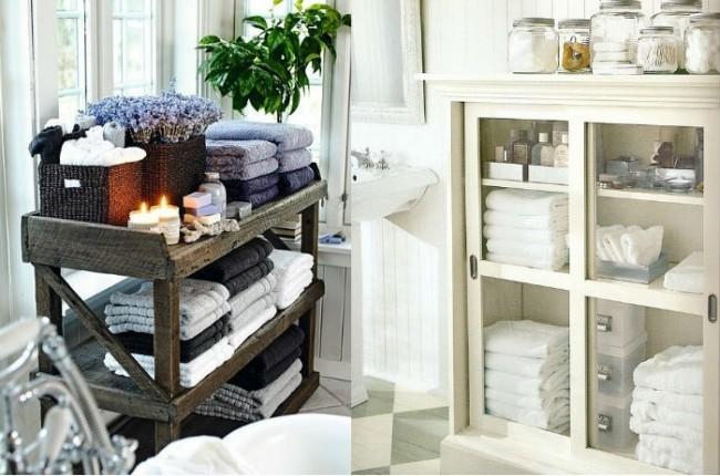 mueble toallero orden en el baño