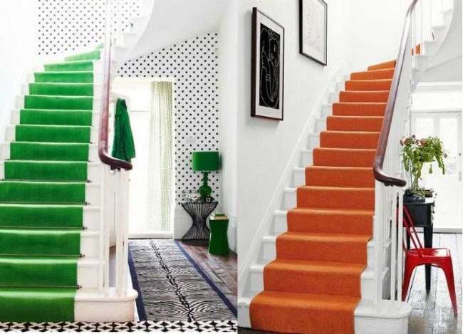 pasos de escalera moqueta interiordesign