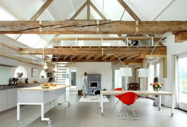 cocina madera blanco negro color interiordesign kitchen modern