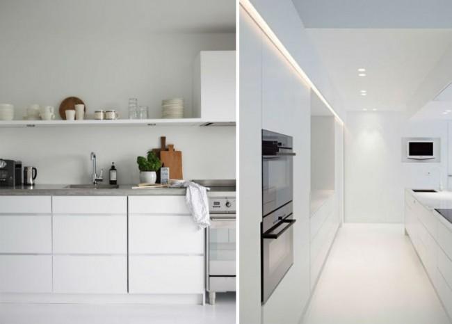 cocina blanca estilo escandinavo moderno interiordesign