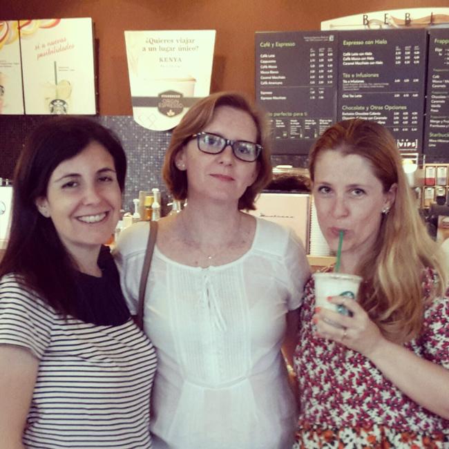 Pili, Teresa, Silvia Starbucks