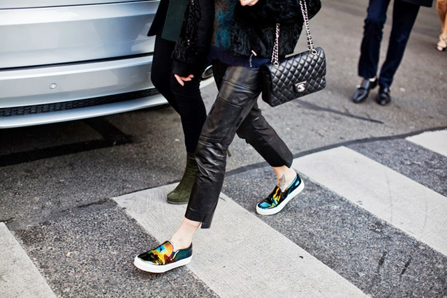 slip on shoes céline street style
