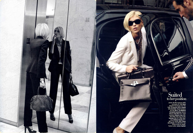 working girl anja rubik harper´s bazaar