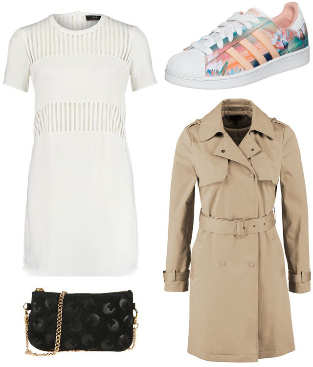 Look-del-dia-vestido-blanco-transparencias-gabardina-camel-sneakers