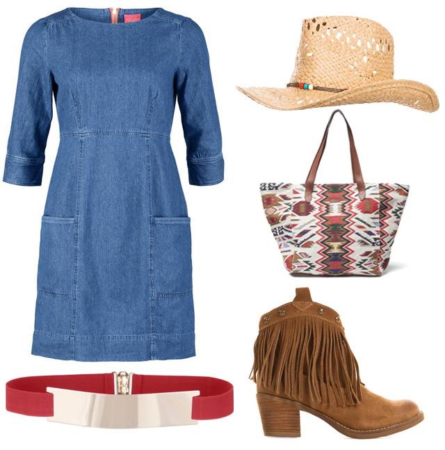 #OOTD: Vestido vaquero, flecos y detalles étnicos