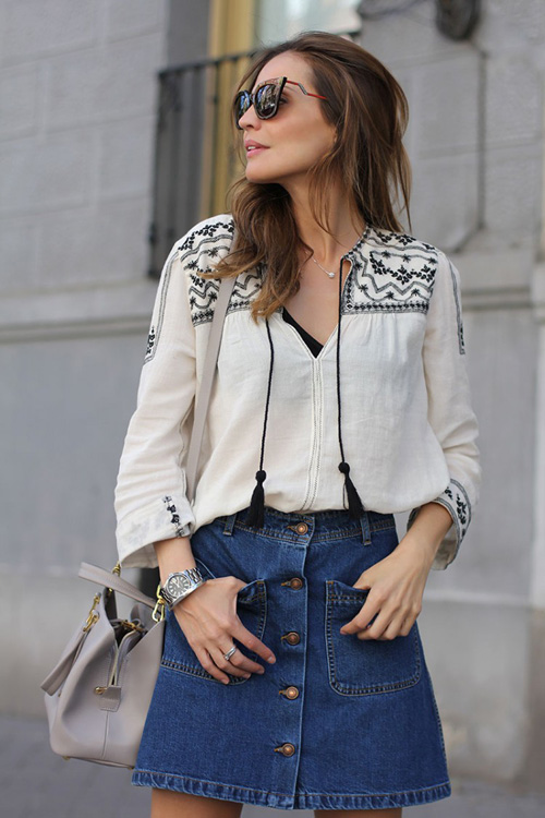 #OOTD: Blusa boho, shorts de crochet y alpargatas