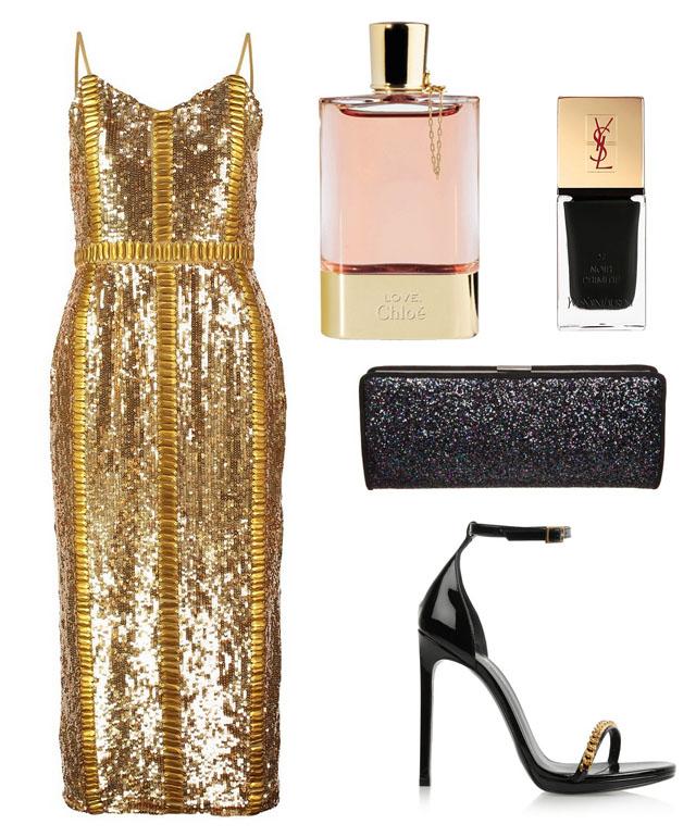vestido-dorado-bbc-look-del-dia