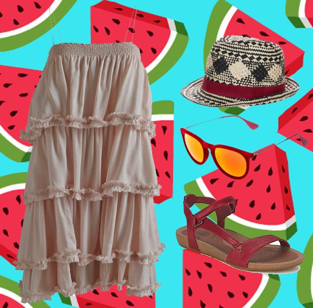 ootd-vestido-volantes-sandalias-teva-gafas-tornasoladas-sombrero