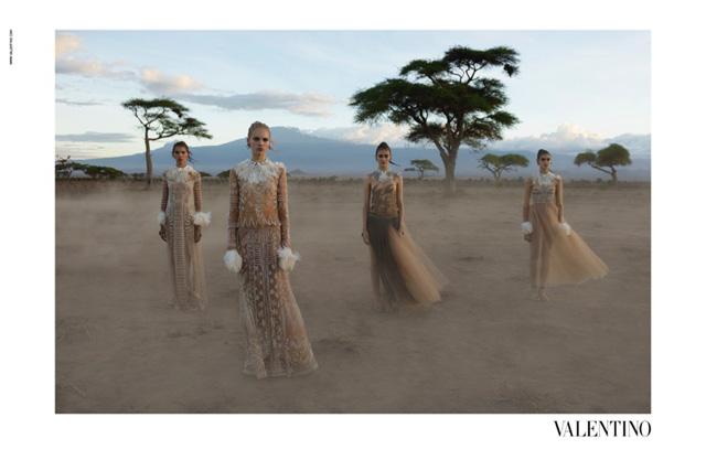 Valentino viaja a Kenya con su campaña publicitaria Primavera/Verano 2016