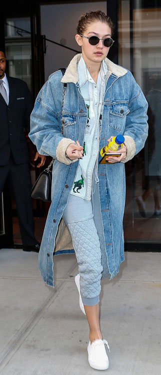 gigi-hadid-denim-on-denim-dino-shirt
