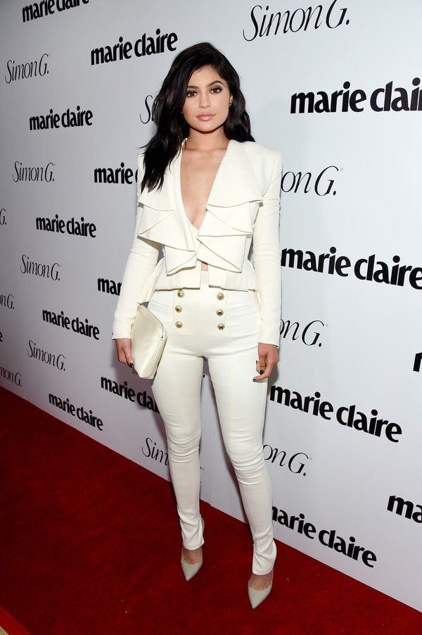 Kylie Jenner de Balmain en el #FreshFaces de la revista Marie Claire