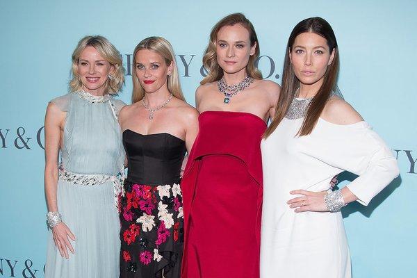 Diane, Naomi, Jessica y Reese en la presentación del #TiffanyBluebook en Nueva York