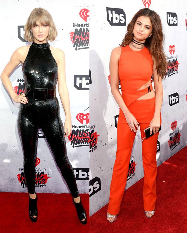 En los IheartRadio Music Awards, Taylor Swift, Selena Gómez y Zendaya llevan los pantalones