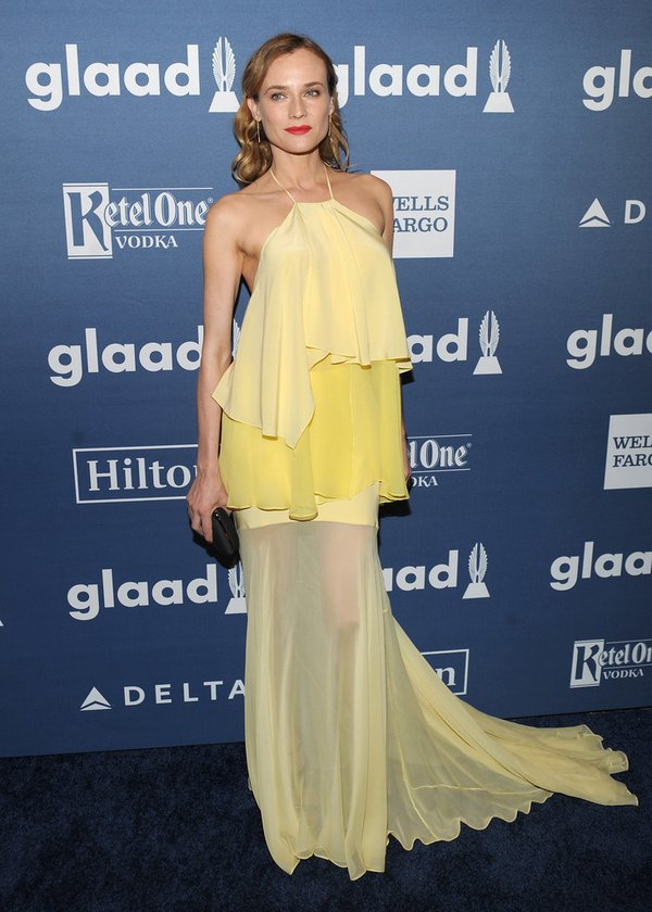 Diane Kruger de Prabal Gurung en los Glaad Media Awards