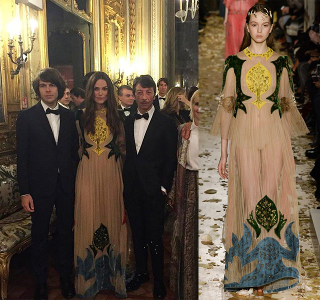 keira knightley dinner valentino copia