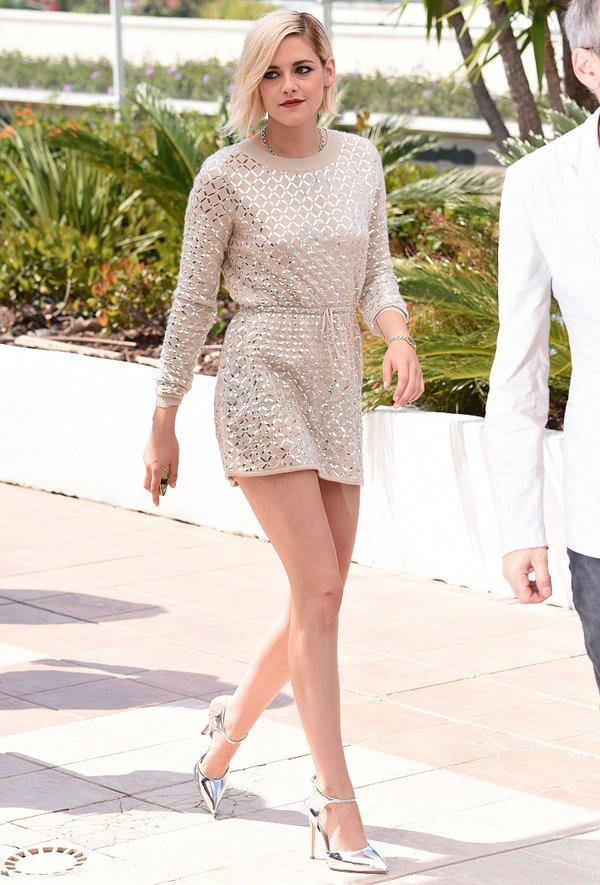 Kristen Stewart de Chanel en el photocall de Personal Shopper en el Festival de Cine de Cannes 2016