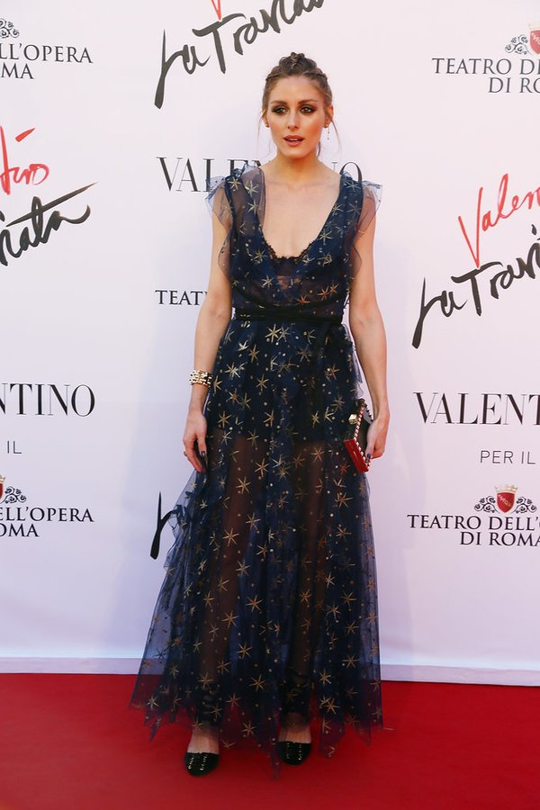 Olivia Palermo de Valentino en la prèmiere de Valentino la Traviata