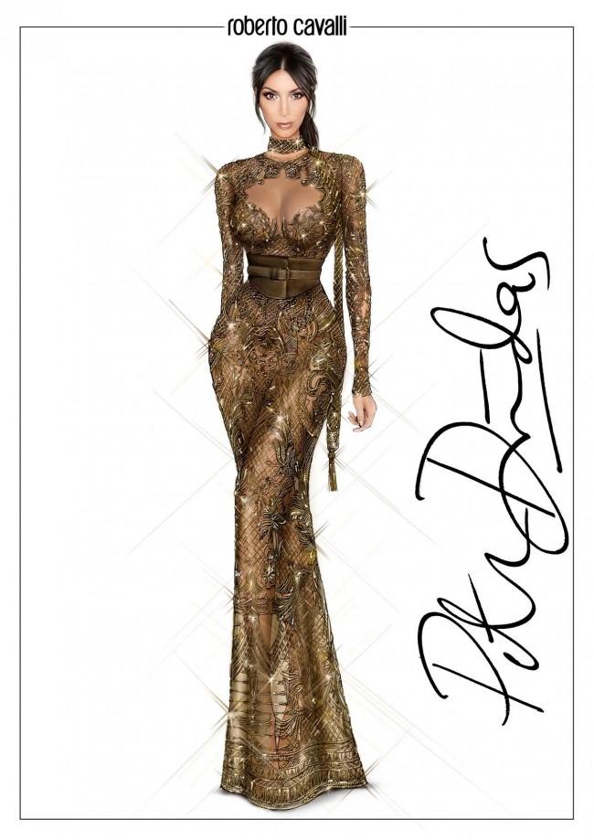 peter dundas para Kim Kardashian