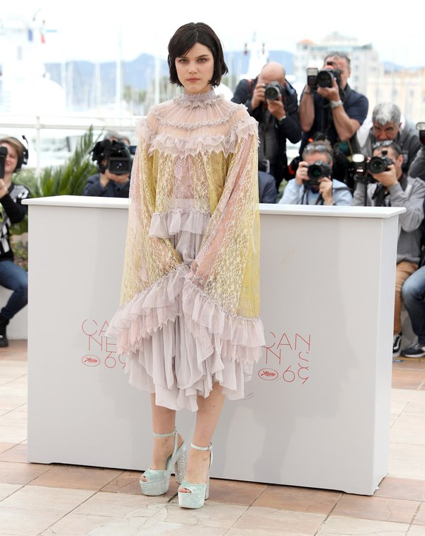 Soko de Chloé en el photocall de The Dancer del Festival de Cine de Cannes 2016