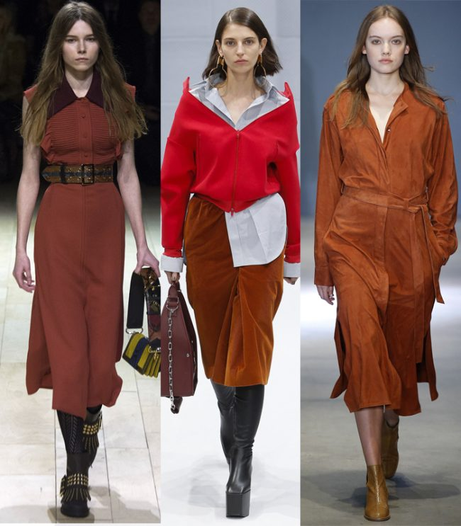 pantone potter´s clay teja color tendencia invierno 2016 burberry balenciaga tibi