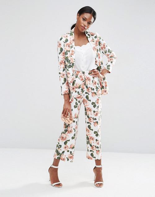 americana pantalones flores de asos