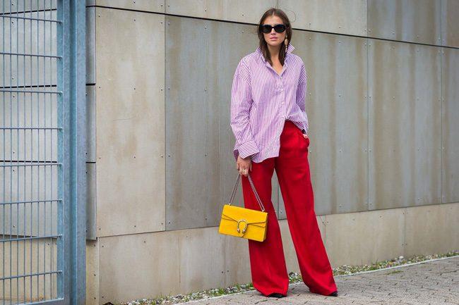 camisa rayas vertical bolso gucci street style du monde cophenagen fashion week