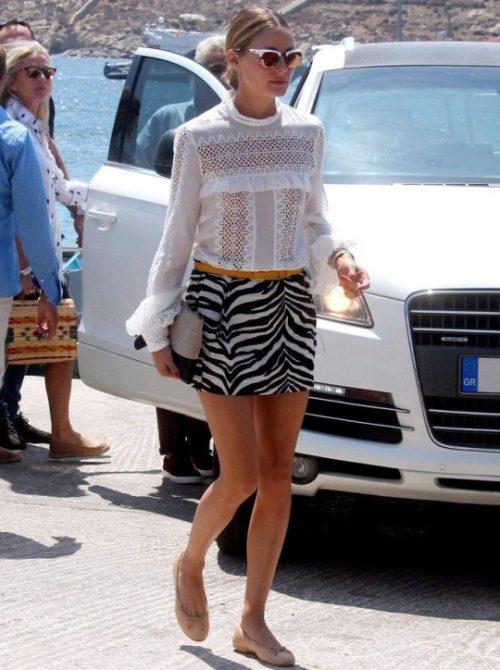 El único bolso que Olivia Palermo necesita en sus vacaciones